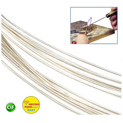 SILVER SOLDER WIRE EASY 1145° F JEWELRY MAKING & REPAIR 1/4 Oz SOLDERING 5