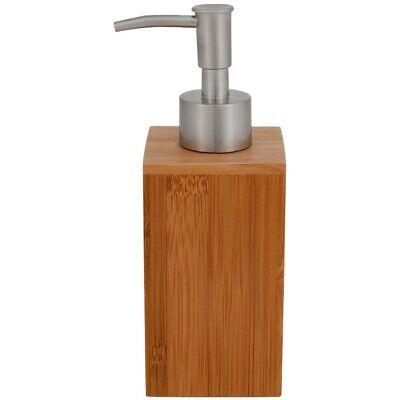 Bambus Seifenspender Seifen Spender Dosierer mit Edelstahl Seifenbehälter Seife