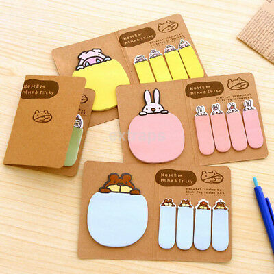 Self-adhesive Lovely Cute Animal Sticker Mini Paper Mark Memo Tab Sticky Notes