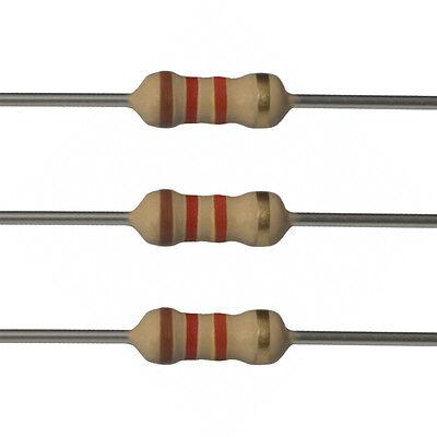 100 X 1.2k Ohm Carbon Film Resistors - 14 Watt - 5 - 1k2 - Fast Usa Shipping