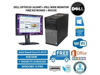 REDUCED ! POWERFUL DELL OptiPlex MT 3020 intel Quad Core i5-4570 3.20 GHz 8GB RAM 1TB HDD + extras