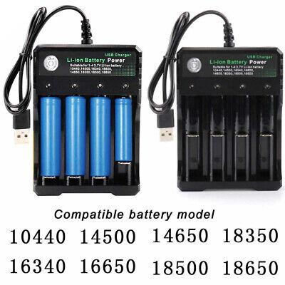 4 Ranuras Batería Cargador Inteligente Carga Para 18650 Recargable USB Corriente