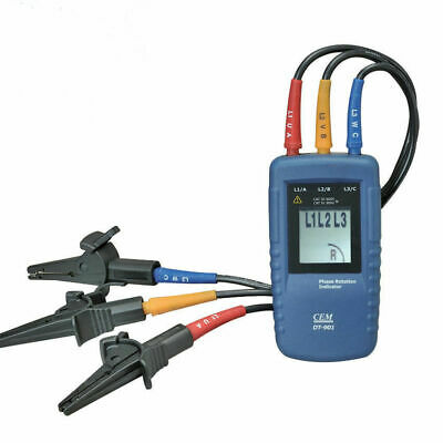 CEM DT-901 Three 3 Phase Rotation Indicator Tester Meter 40~960V AC CATIII (Phasing Tester)