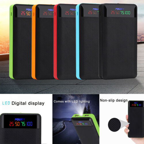 2/Dual USB Power Bank Case 4/6*18650 Battery Charger DIY Kit for iPhone Samsung