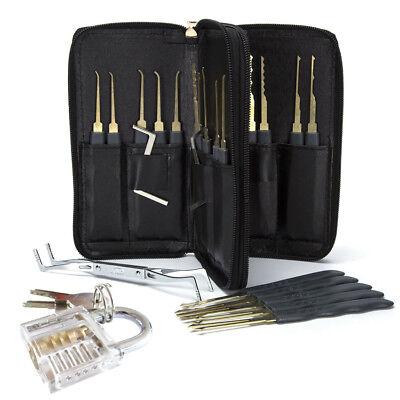 24 Pcsset Lock Pick Tools Transparent Padlock Locksmith Training Padlock Tools
