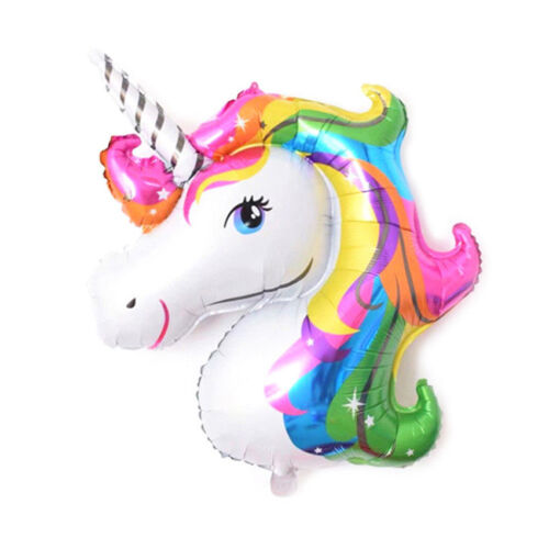 New Unicorn Large Rainbow Foil Helium Balloon For Children Birthday Party Decor