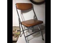 Genuine 1960s Padded Folding Chair
