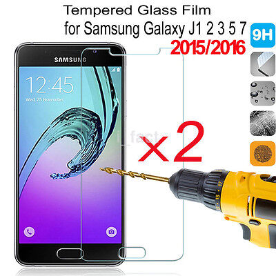 2X Premium Tempered Glass Film Screen Protector Guard Cover For Samsung Galaxy
