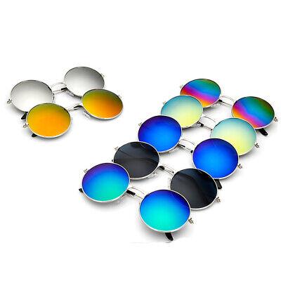 Wholesale Vintage Round Mirrored Sunglasses Eyeglasses Outdoor Sports (Wholesale Round Sunglasses)