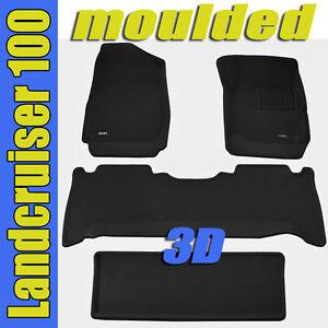 Toyota landcruiser 100 series 1998 2007 3d black rubber for 100 series land cruiser floor mats