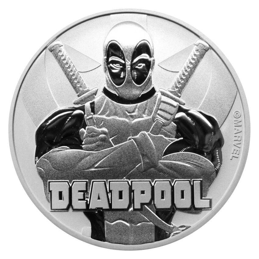 Tuvalu 1 Dollar 2018 Deadpool™ Marvel™ Serie (5.) 1 Oz Silber Stempelglanz ST