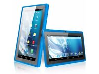 BTC Flame Quad core ; tablet 8 inches x 4 inches in Blue new still boxed instructions good present