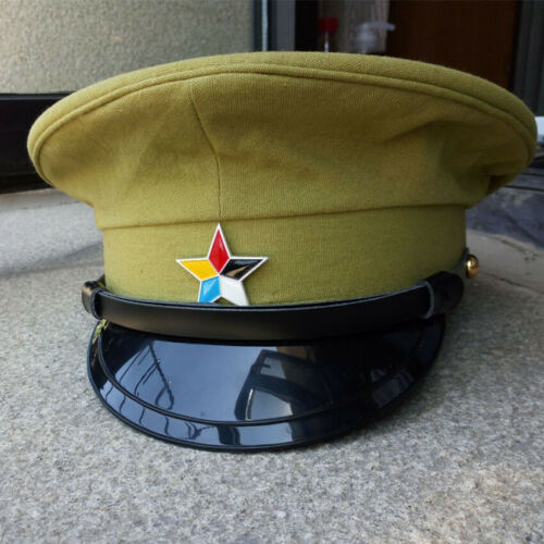 Chinese Army Imperial Coaches Soldier Hat Large Brimmed Cap