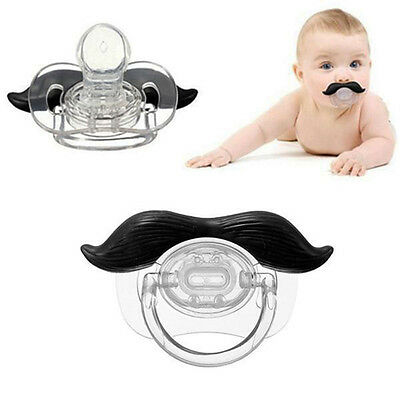 Baby Funny Dummy Prank Mustache Pacifier Teeth Children Soother Nipple New Cool (Baby Mustache)