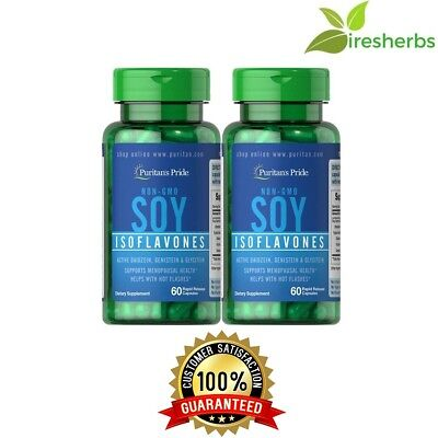 - NON-GMO SOY ISOFLAVONES 750MG WOMEN'S MENOPAUSE HEALTH SUPPLEMENT 120 CAPSULES