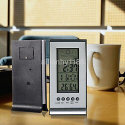 New LCD Room Digital Thermometer Hygrometer Temperature Humidity Meter Clock US