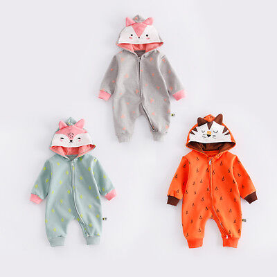 NEW BABY WINTER WOOL THICK ROMPER NEWBORN BOYS GIRLS ANIMAL COSTUME OUTFITS SETS - Thick Girl Outfits