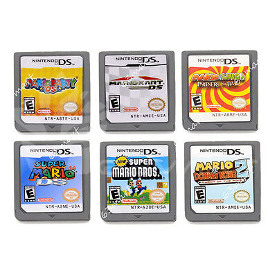6PCS MARIO Game Card Child Children Gift For DS NDS DSI 3DS US Version](Mario Games For Kids)