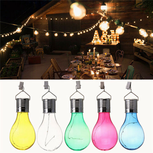 Colorful Hanging LED Light Solar Rotatable Lamp Bulb For Garden Lawn Yard Decor