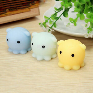 US Cute Octopus Squishy Squeeze Healing Fun Kid Toy Gift Stress Reliever Decor