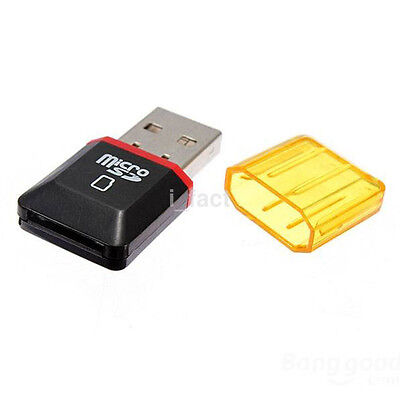 2Pcs USB 2.0 Micro SD SDHC TF Flash Memory Card Reader Adapter Mini For PC IF CA