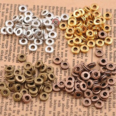 Beads - FREE SHIP 100Pcs Tibetan Silver Charms Spacer Beads Jewelry Findings  6MM JK3039