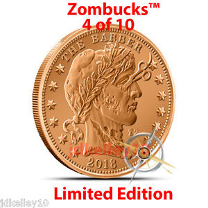2014-COPPER-ZOMBIE-BULLION-THE-BARBER-Z2-ZOMBUCKS-ROUND-1-OZ-999-FINE-4-of-10