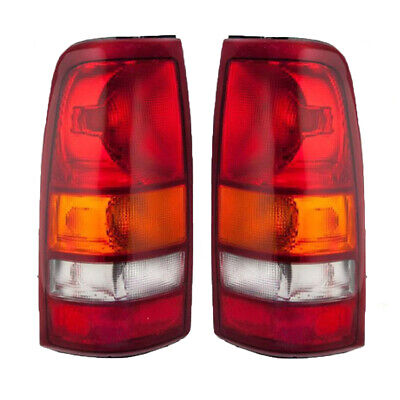 NEW PAIR OF TAIL LIGHTS FIT CHEVROLET SILVERADO 1500 2500 HD 2001-2002 GM2800173