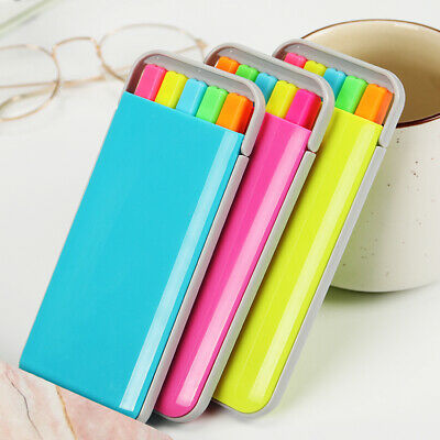 Candy Color Highlighter Maker Pens Notebook Line Marker Pen Fluorescent 5pcsset