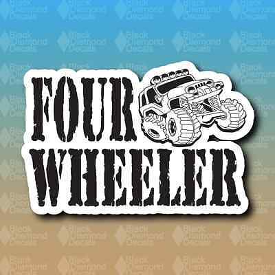 "Four Wheeler Off Road Truck Rock Crawler Jeep 6"" Custom Vinyl Decal Sticker"