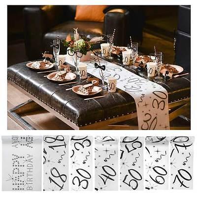 (1,62€/m) Black & White Mitteldecke mit Jahreszahl Geburtstags Dekoration Basics ()