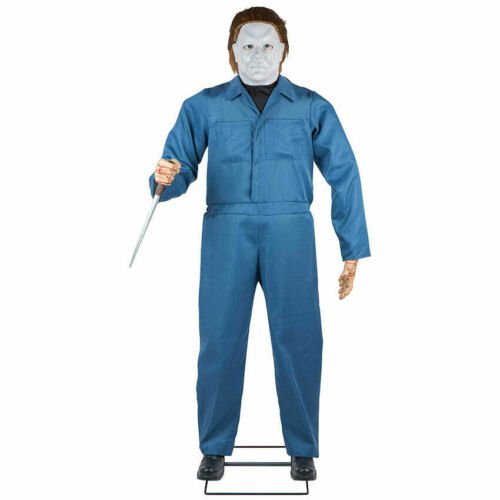 IN STOCK***  HALLOWEEN  LIFE SIZE MICHAEL MYERS H2  ANIMATED PROP 6 FT -GEMMY