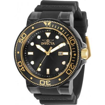 Invicta 32337 Pro Diver 51.5MM Men's Black Silicone Watch