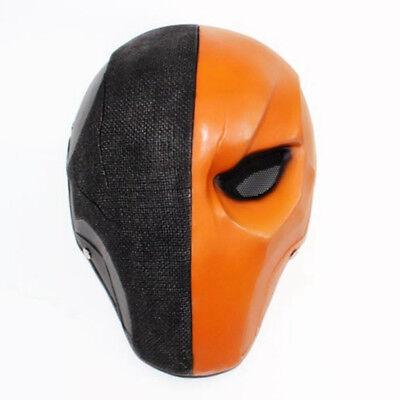 Deathstroke Full Costume (Deathstroke Helmet Arrow season 5 Cosplay Helmet Full Face Mask Resin)