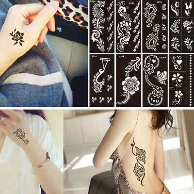 Hollow Henna Stencils Body Paste Tattoo Painting Drawing Temporary Template Tool