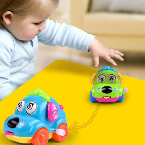 Funny Educational Toys Cartoon Clockwork Puppy Car with Flexible Ears Baby Toy