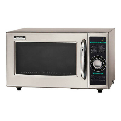 Sharp R-21lcf 1000w Commercial Microwave W Dial Control 120v