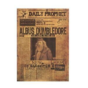Harry Potter Albus Dumbledore Poster Vintage Kraft Wall Stickers Daily Prophet