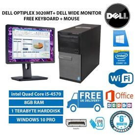 DELL OptiPlex MT 3020 intel Quad Core i5-4570 3.20 GHz 8GB RAM 1TB HDD