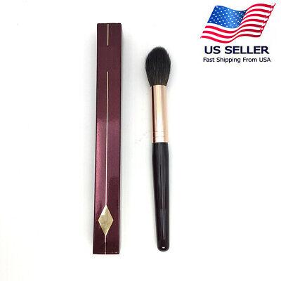 Charlotte Tilbury style Powder & Goat Hair Mix Soft Highlighter Makeup Brush Powder Goat Hair Makeup Brush