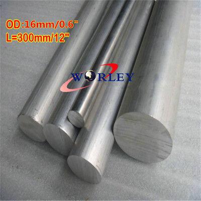 Aluminum 6061 Round Rod Dia16 Mm Solid Lathe Bar Stock Cut 16x300mm L12