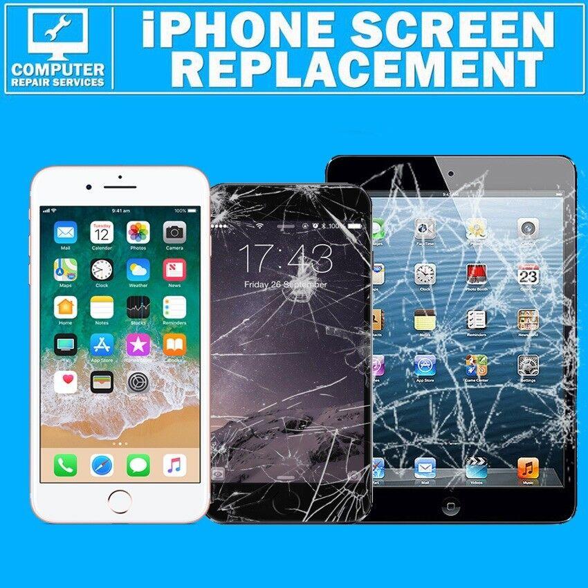 iPhone 7 6 6s 5 5s 4s Plus iPad Crack Broken Screen Fix Service Lcd Repair Express 30 Minutes