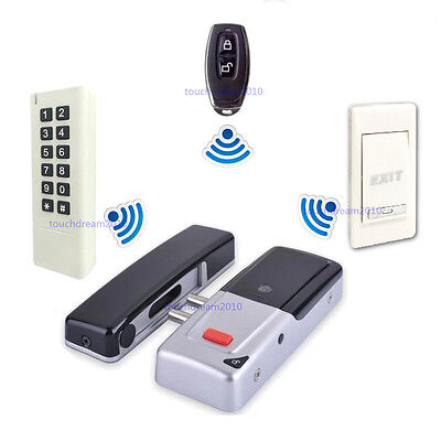 Wireless Electric Door Lock Mortise Lock Remote Control Open Door Bolt Lock Kit