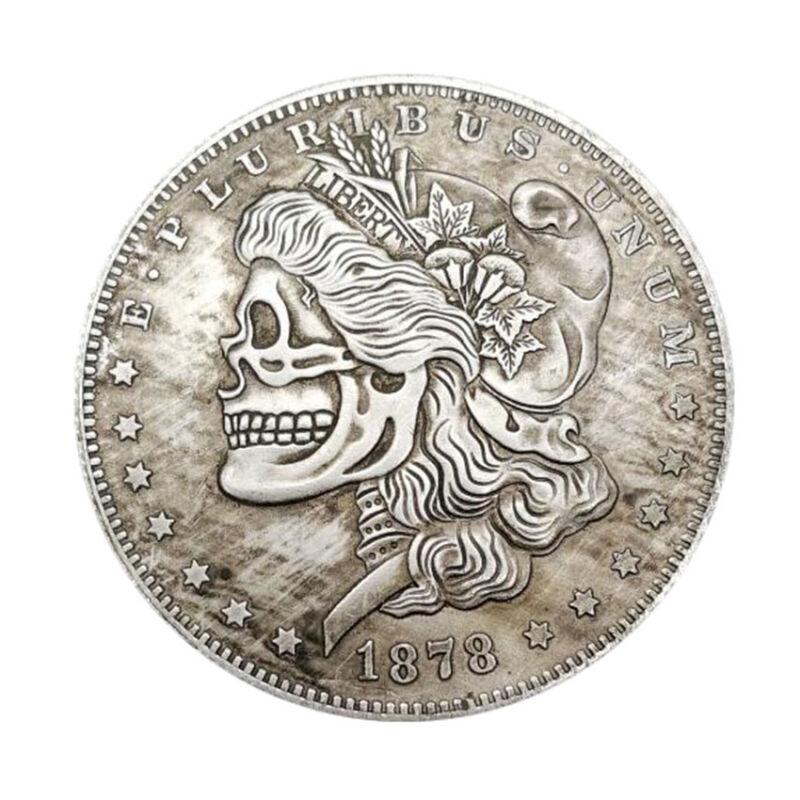 Morgan Dollar 1936 Skull Zombie Skeleton Hobo Coin Collectible Free Shipping