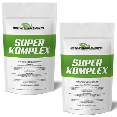Glucosamin Komplex Tabletten (280 - 1140 Tabletten SUPER KOMPLEX  3000mg Glucosamin+Chondroitin+MSM+Vitamin C)