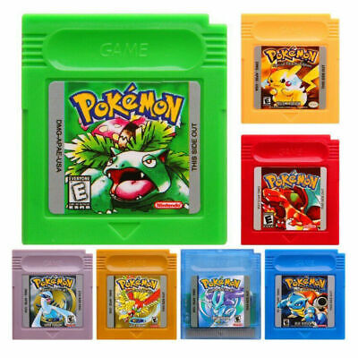 Pokemon Game Boy Games Blue Green Red Crystal Yellow Gold AZ located repro