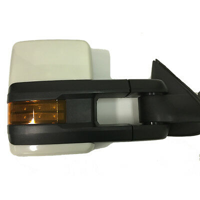 Paint To Match For 07-13 Silverado GMC Power Heated Towing Mirrors LED Signals