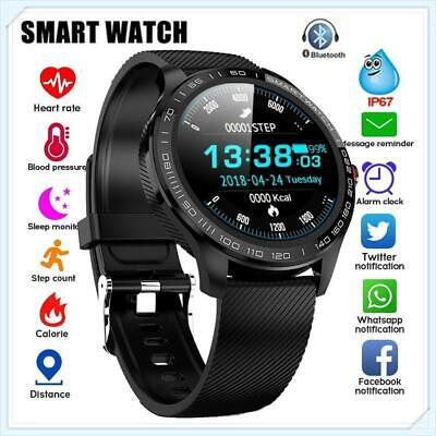 Smart Watch Men's ECG + PPG Heart Rate Blood Pressure Oxygen Monitor IP68 Watch