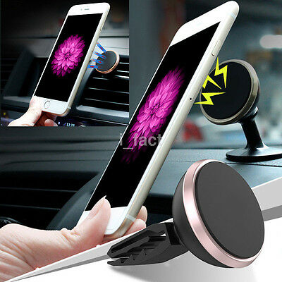 360° Magnetic 2in1 Car Air Vent & Sticky Dashboard Phone Mount Stand Holder 1Pc