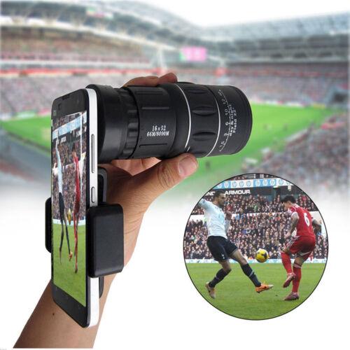 16x52 Zoom Dual Focus Monocular Telescope Lens Camera HD Scope & Phone Holder